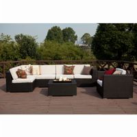 Dijon Modern Patio Sectional Deep Seating Set 8 Piece CA-DJ-997