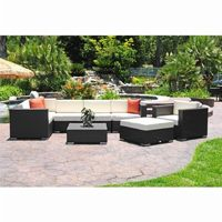 Dijon Modern Patio Sectional Deep Seating Set 9 Piece CA-DJ-999