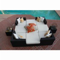 Dijon Modern Patio Sectional Lounge Seating Set 11 Piece CA-DJ-996