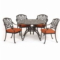 Florence Cast Aluminum Outdoor Dining Set 5 piece CA-777-501