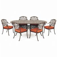 Florence Cast Aluminum Outdoor Dining Set 7 piece CA-777-517