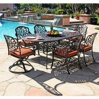 Florence Cast Aluminum Outdoor Dining Set 7 piece Swivel CA-777-503