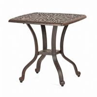 Florence Cast Aluminum Outdoor End Table 21 inch Square CA-777-E