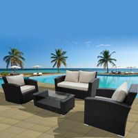 Keywest Modern Outdoor Deep Seating Set 4 Piece OLI-KW4