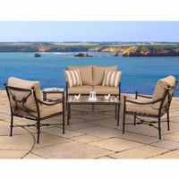 Origin Cast Aluminum Patio Club Seating Group Rectangle 5 pcs CA-888-DX111