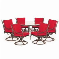 Origin Cast Aluminum Patio Dining Group Round Swivel 7 pc. CA-888-DINE3