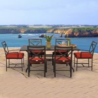 San Michelle Cast Aluminum Patio Dining Set 7 Piece CA-8074-SET7