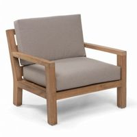 Sixty Teak Patio Club Chair with Cushion CA-50-921