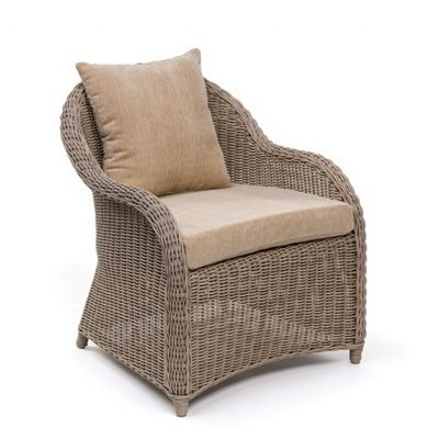 Amelie Traditional Wicker Dining Club Chair CA-989-21