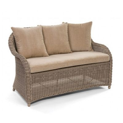 Amelie Traditional Wicker Dining Club Loveseat CA-989-22