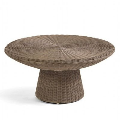 Amelie Traditional Wicker Round Coffee Table CA-989-CT