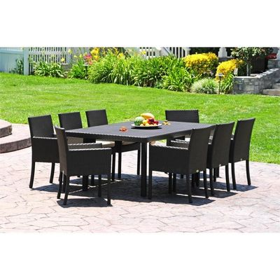 Dijon Modern Patio Dining Set 9 Piece CA DJ 9DS CozyDays Dijon Modern Patio  Dining Set