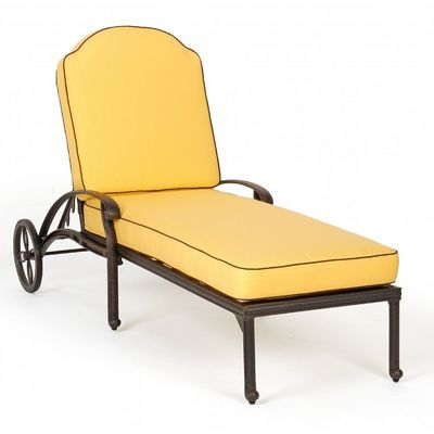 Florence cast aluminum outdoor chaise lounge ca 777 9 for Aluminum chaise lounge outdoor