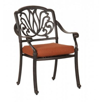 Florence Cast Aluminum Outdoor Dining Arm Chair CA-777-1