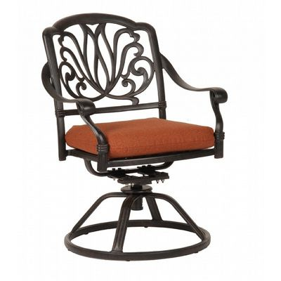 Florence Cast Aluminum Outdoor Swivel Chair CA-777-11