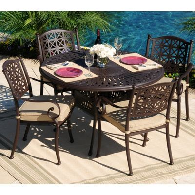 Holywood Cast Aluminum Outdoor Dining Set 5 pc. CA-666-102