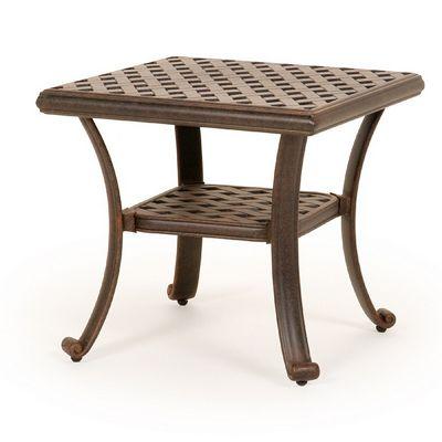 Jordan Cast Aluminum Side Table 22 Inch Square Ca 8096 E