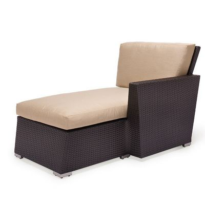 Maxime Wicker Deep Club Chaise Left Module CA607-9L