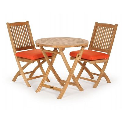 Modern Teak Patio Folding Bistro Set 3 Piece Part 95