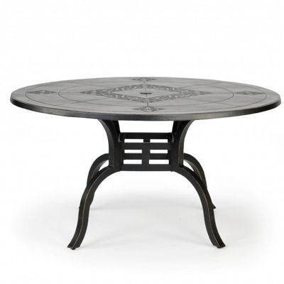 novara cast aluminum round patio dining table 54 inch ca 704a 54