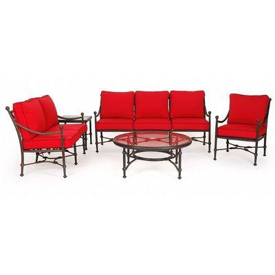 Origin Cast Aluminum Patio Club Seating Group 5 Pcs Ca 888