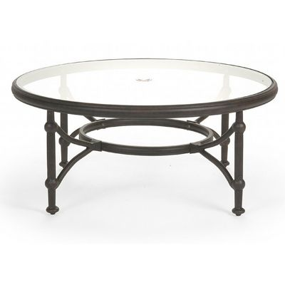 Superb Origin Cast Aluminum Round Coffee Table 42 Inch