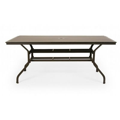 San Michelle Cast Aluminum Rectangular Dining Table 72 Inch CA 8074C 72 Coz