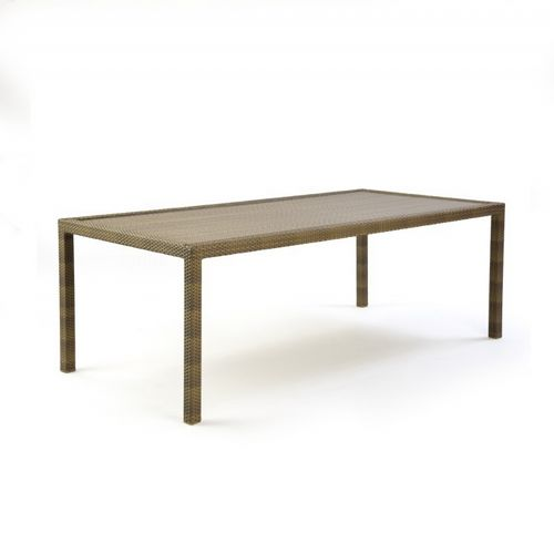 10Tierra Wicker Patio Rectangle Dining Table CA-829-B84
