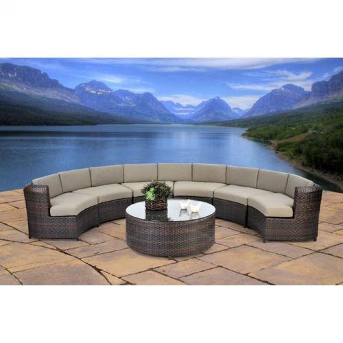 Half Circle Outdoor Seating Off 56, Half Circle Patio Furniture
