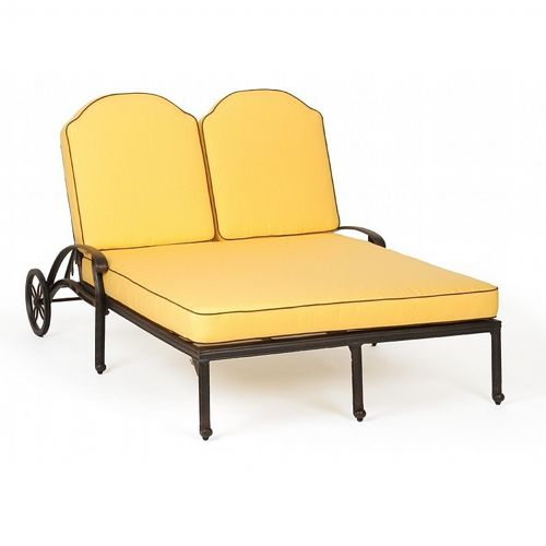 Florence Cast Aluminum Outdoor Chaise Lounge Double Ca 777