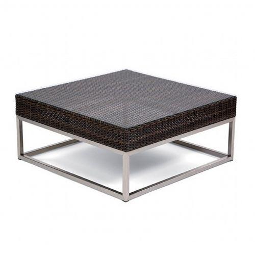 Mirabella Modern Wicker Club Coffee Table 35 Inches Ca606