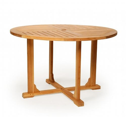 Modern Teak Round Patio Dining Table 60 inch CA-50109 ...