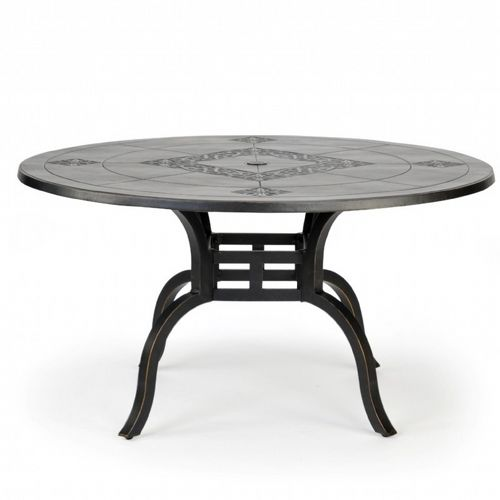 novara cast aluminum round patio dining table 54 inch ca 704a 54 cozydays. Black Bedroom Furniture Sets. Home Design Ideas
