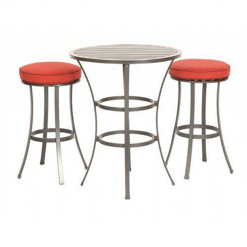 San Michelle Cast Aluminum Dining Bar Bistro Set 3 Piece