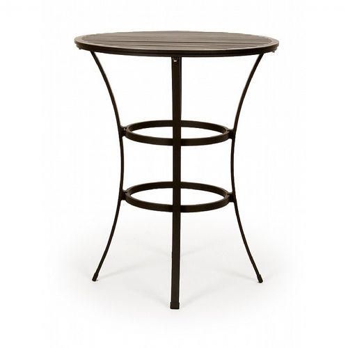 San Michelle Cast Aluminum Round Dining Bar Table 32 Inch