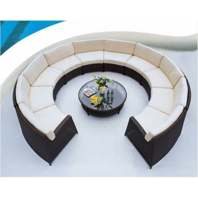 Outdoor Furniture: Outdoor Wicker: A Round Pod Outdoor 11 piece Deep Seating Set