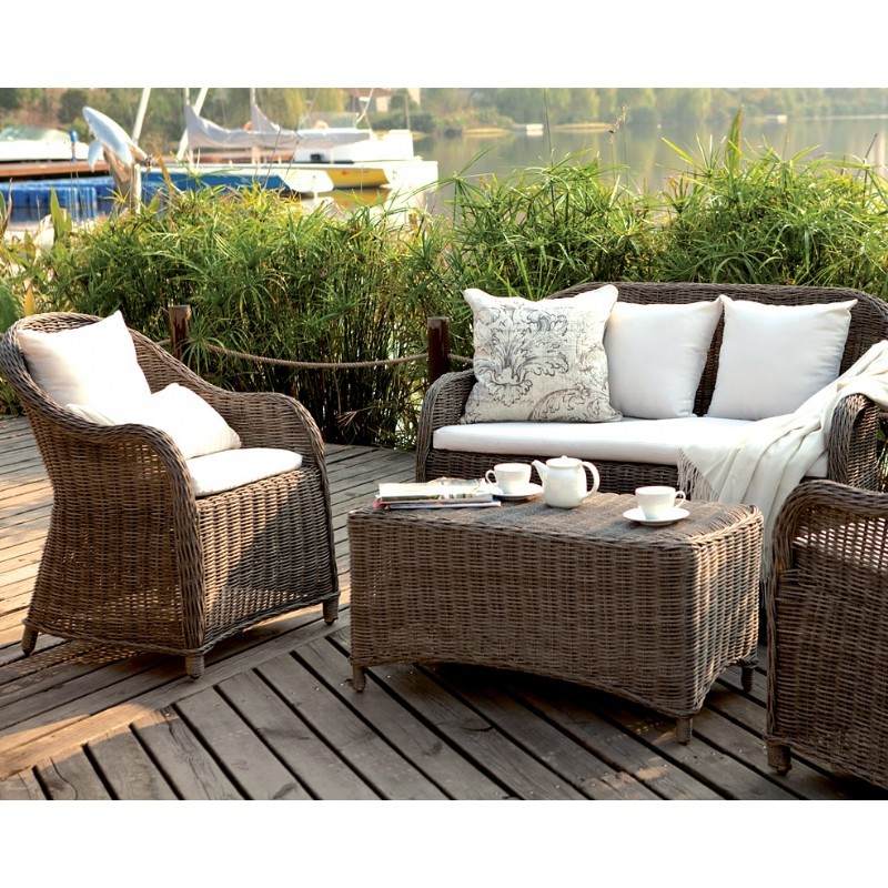 Amelie Traditional Wicker Club Seating Set 4 Piece