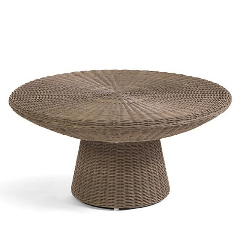 Amelie Traditional Wicker Round Coffee Table