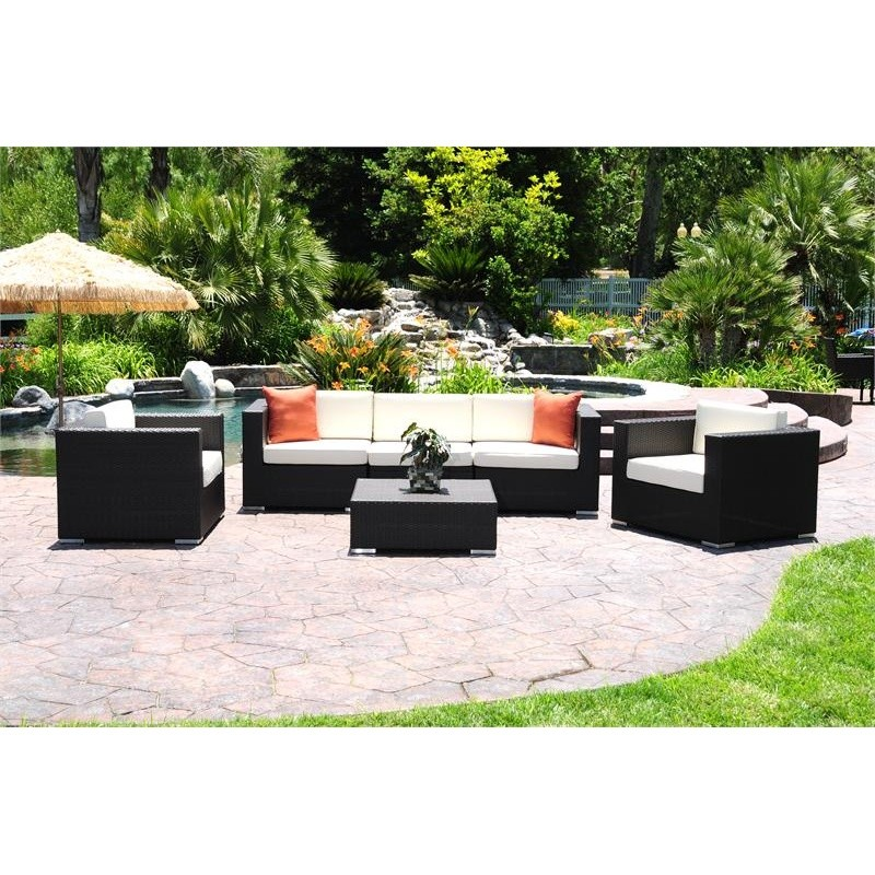 Dijon Modern Patio Club Deep Seating Set 6 Piece