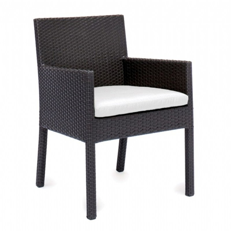 Dijon Modern Patio Dining Arm Chair