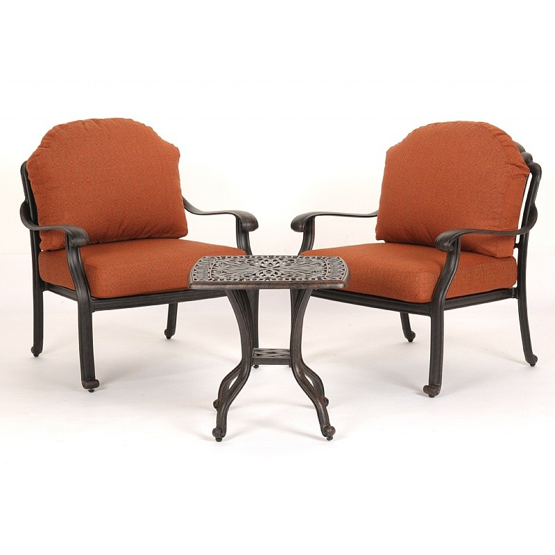Florence Cast Aluminum Outdoor Chat Group 3 Piece