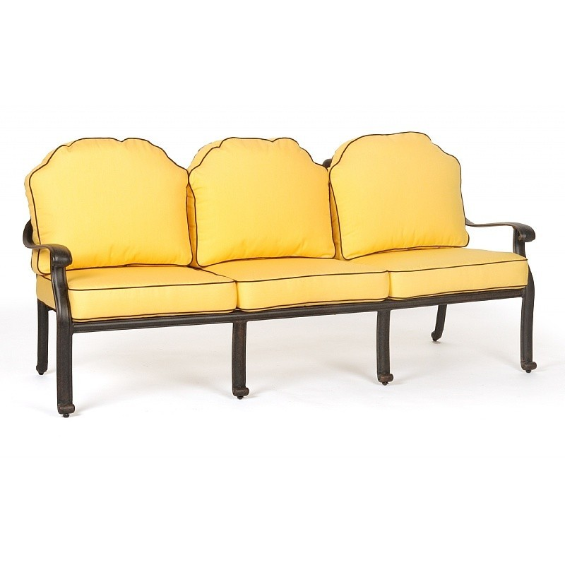 Florence Cast Aluminum Outdoor Club Sofa