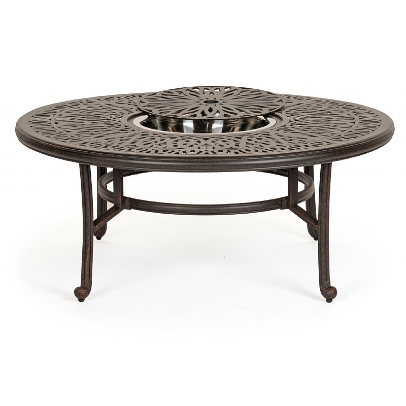 Florence cast aluminum outdoor coffee table 52 inch round for Table 52 reviews