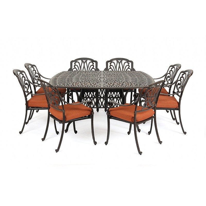 Outdoor Metal Patio Furniture on Florence Cast Aluminum Outdoor Patio Dining Set 9 Piece Is Currently
