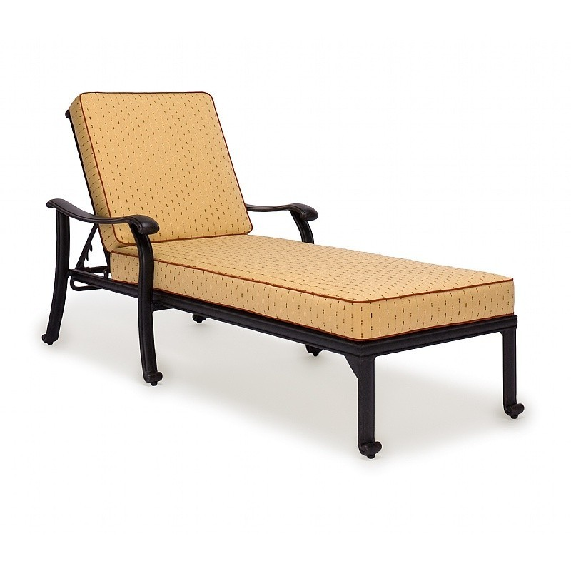 Caluco jordan cast aluminum outdoor chaise lounge ca 8096 for Aluminum outdoor chaise lounge