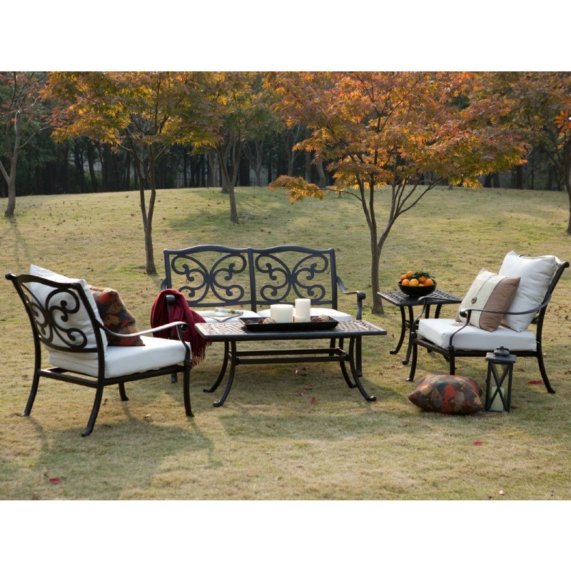 Upcoming Deals: La Mariposa Cast Aluminum Outdoor Deep Seating Set 5 Piece