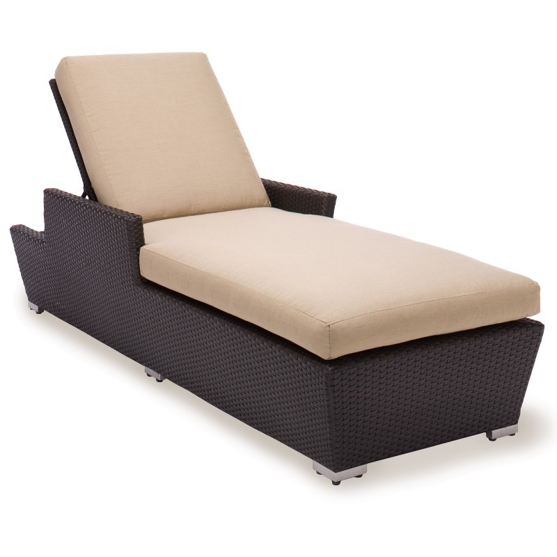 Maxime Wicker Chaise Lounge : Patio Chairs