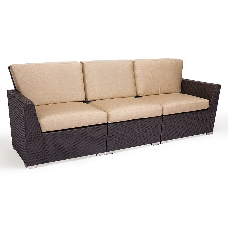 Caluco Maxime Wicker Outdoor Sectional Sofa with Cushion
