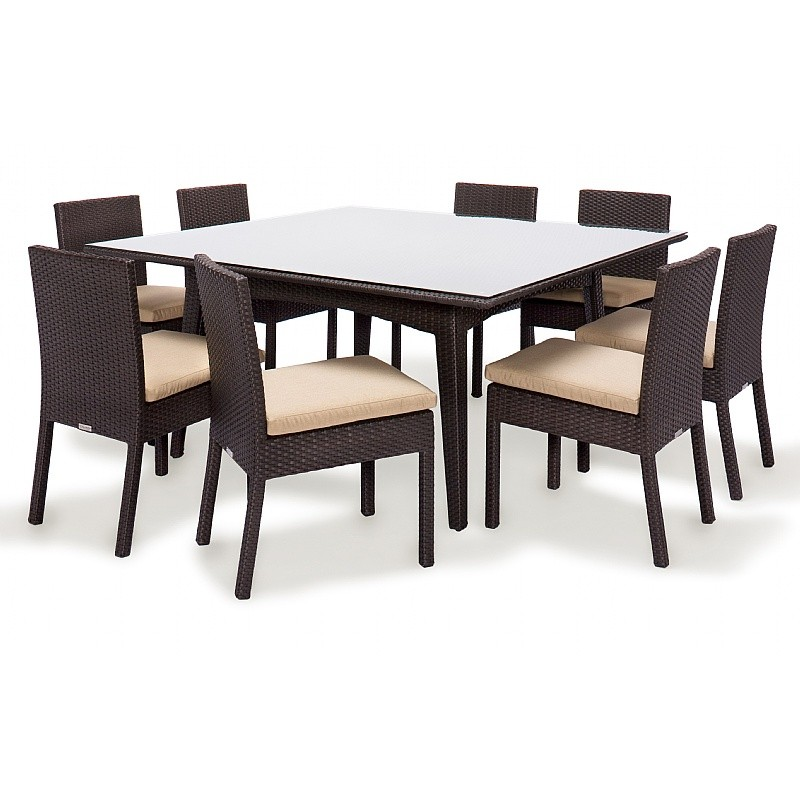 Maxime Wicker Outdoor Dining Set 9 Piece : Patio Sets