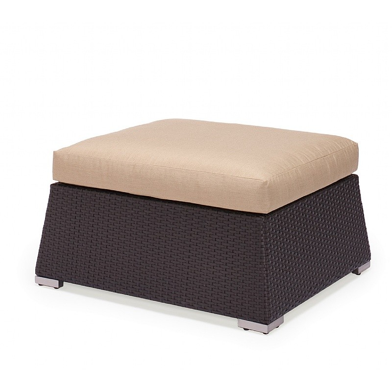 maxime resin wicker sectional ottoman